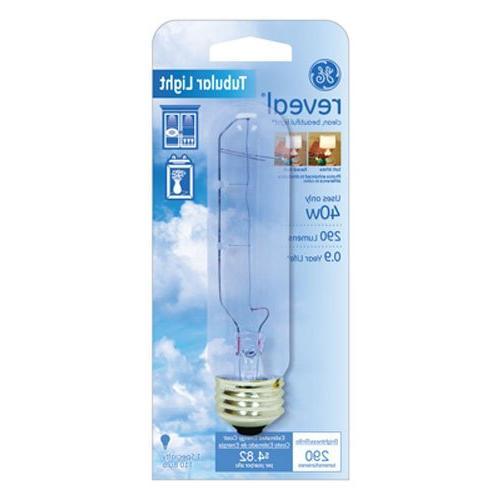 GE Lighting 48707 40-Watt Reveal Tubular T10 Light Bulb