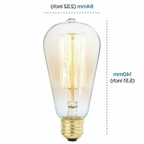 4Pack Edison Antique Bulbs Amber E27