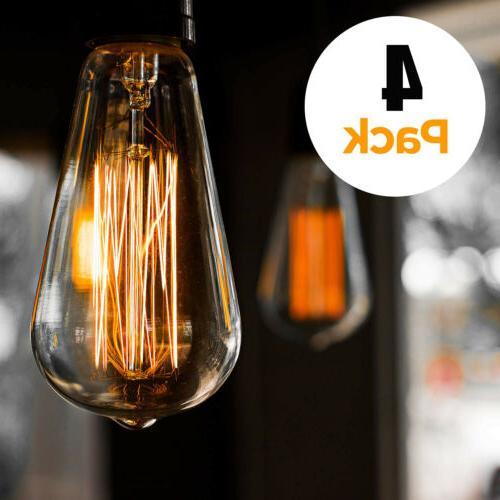 4Pack E27 Light Bulb Lamp Vintage Bulbs