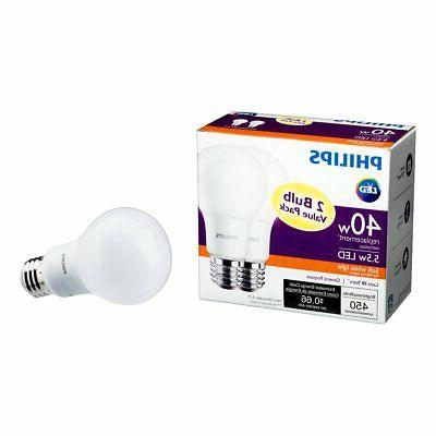 Philips A19 Replacement 450 Lumen White Bulb, 12 Pack