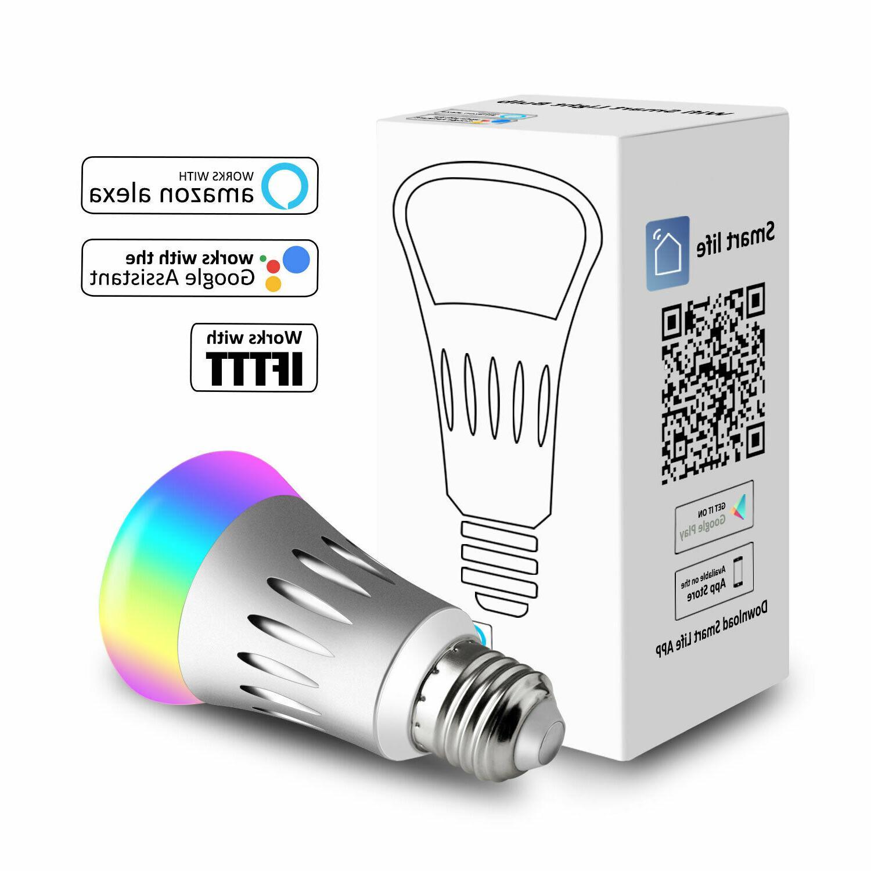 WiFi Smart Light Bulbs Dimmable Switch For /Alexa/IFTTT