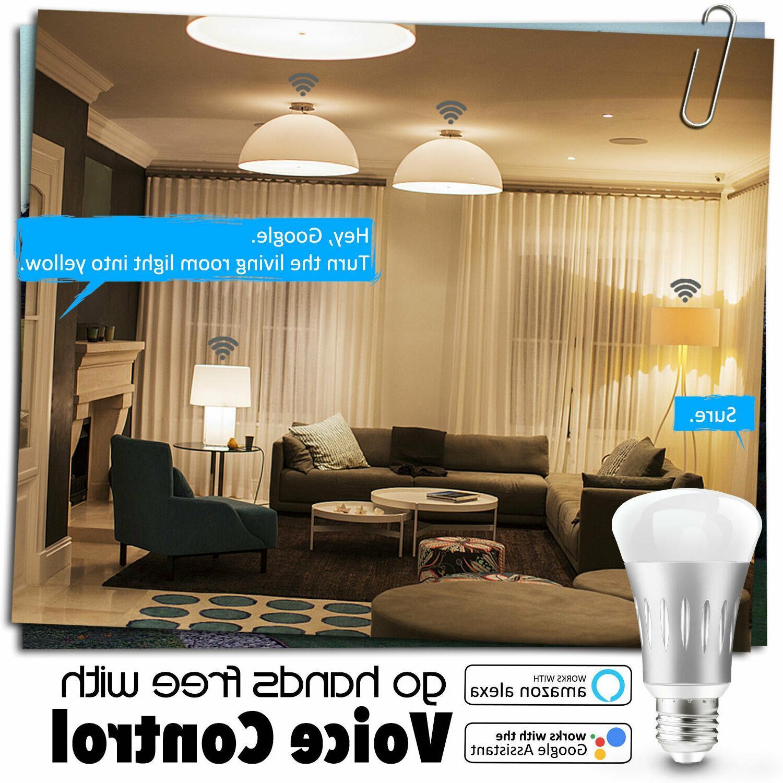WiFi Light Bulbs LED Switch Google /Alexa/IFTTT