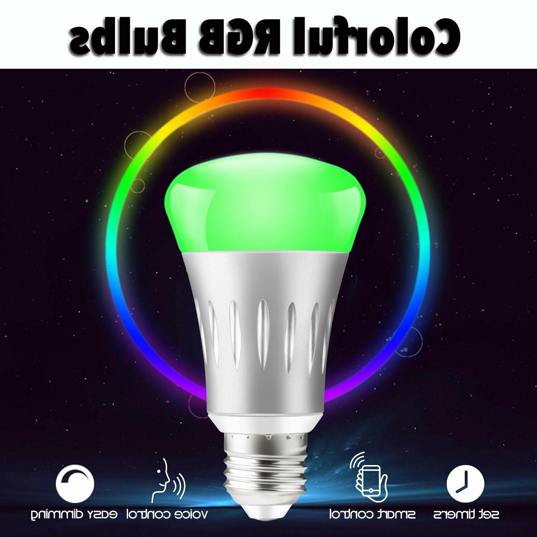 WiFi Smart Bulbs Dimmable LED E27 Lamp /Alexa/IFTTT