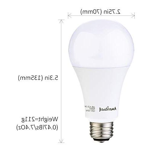 AmeriLuck 2700K 3-Way Light A21, UL