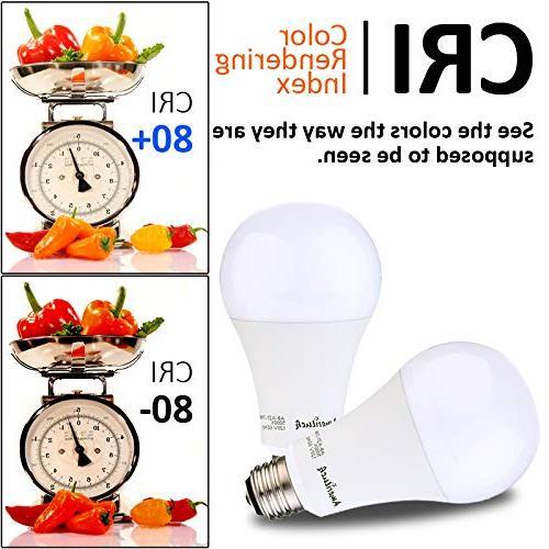AmeriLuck 2700K 3-Way LED Bulb A21, UL Listed