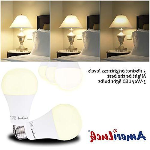 AmeriLuck Soft 3-Way Bulb A21, 50-100-150W Equivalent, UL