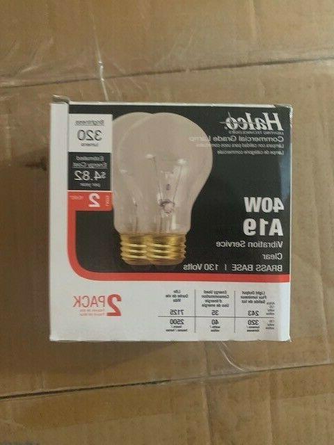 50 a19 clear 40w light bulbs