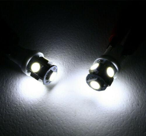 50Pcs T10 Wedge 5-SMD 5050 Light bulbs 158 192