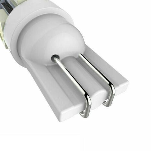 50Pcs White T10 Wedge 5-SMD 5050 LED Light bulbs W5W 2825 158