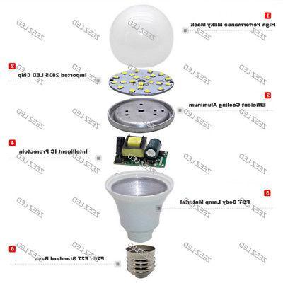 5W 7W LED E26 Bright White Daylight Lamp