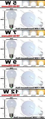 5W 7W 12W LED E26 Cool Bright