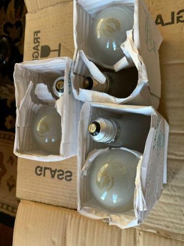 6 Philips 100 Watt Light Bulbs Frost Service Lamps 120-130V
