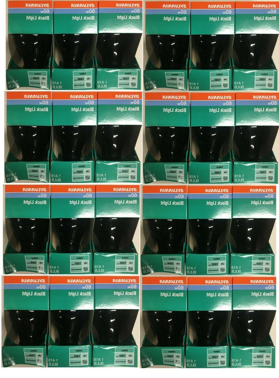 6 pack 60 watt incandescent black light