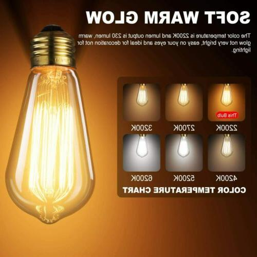 6PCS/Set 60W Edison Bulb DecorStar Edison Light Bulbs Antiqu