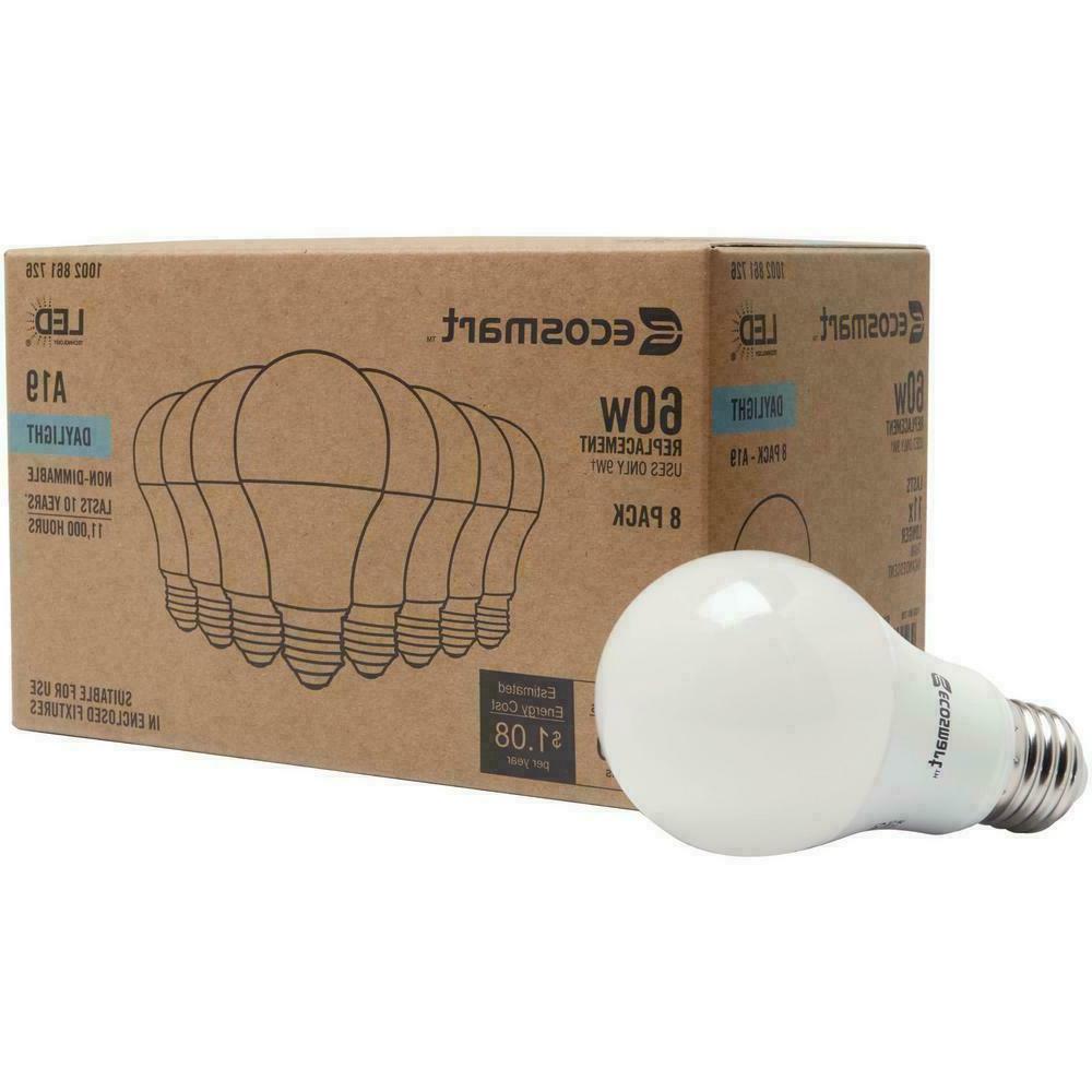 60-Watt A19 Non-Dimmable 840 Light Bulb Daylight 8-Pack