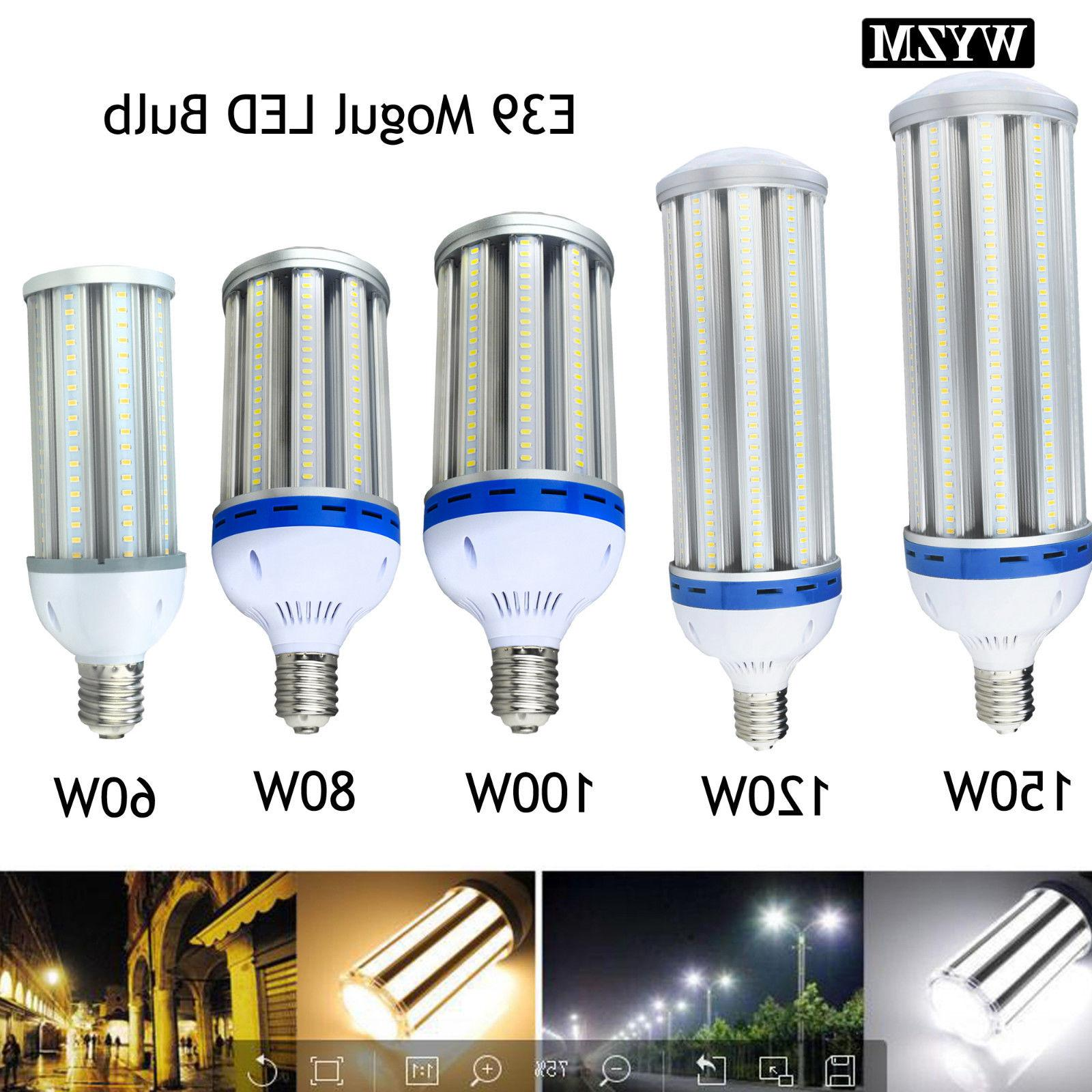 60W 80W 100W 120W LED Corn Light Bulb E39 Mogul Base Bulbs E