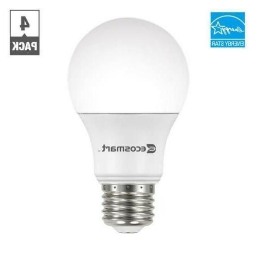 EcoSmart 60W Daylight A19 Star LED Light Bulb 4-Pack