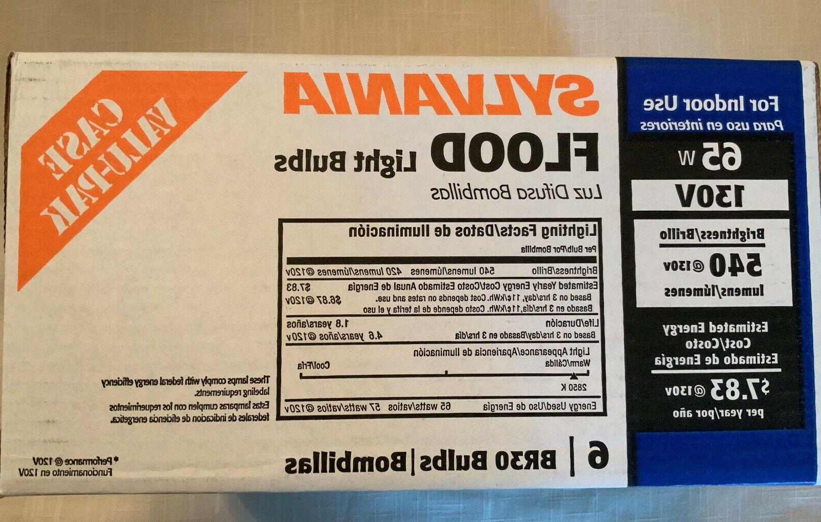 65w br30 indoor flood light bulbs six