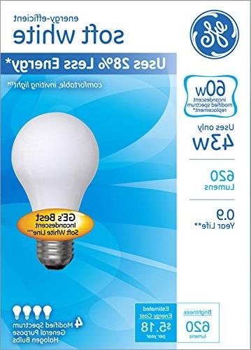 GE Lighting Soft White Light Bulb with Base,