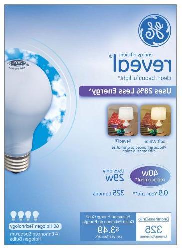 GE 29-Watt, 325-Lumen A19 Bulb with Medium 4-Pack
