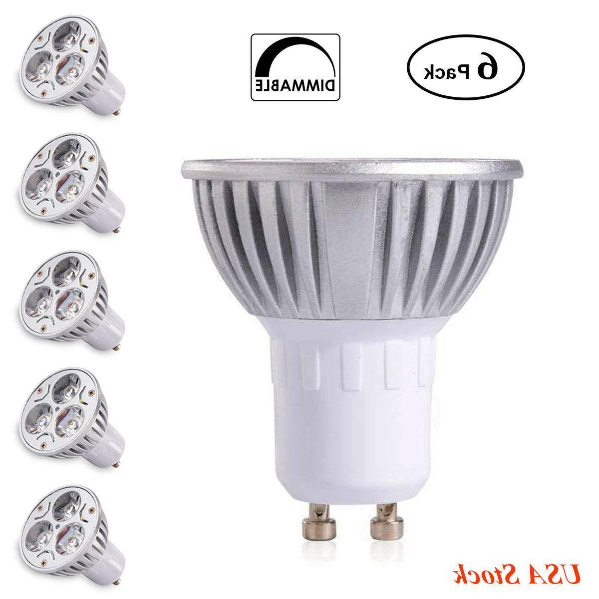 6pcs gu10 led spotlight bulbs 3w 4w