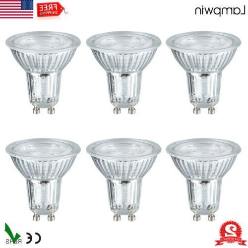 6x gu10 led light bulbs 50w equivalent