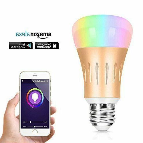 7w multicolored wi fi smart light bulb
