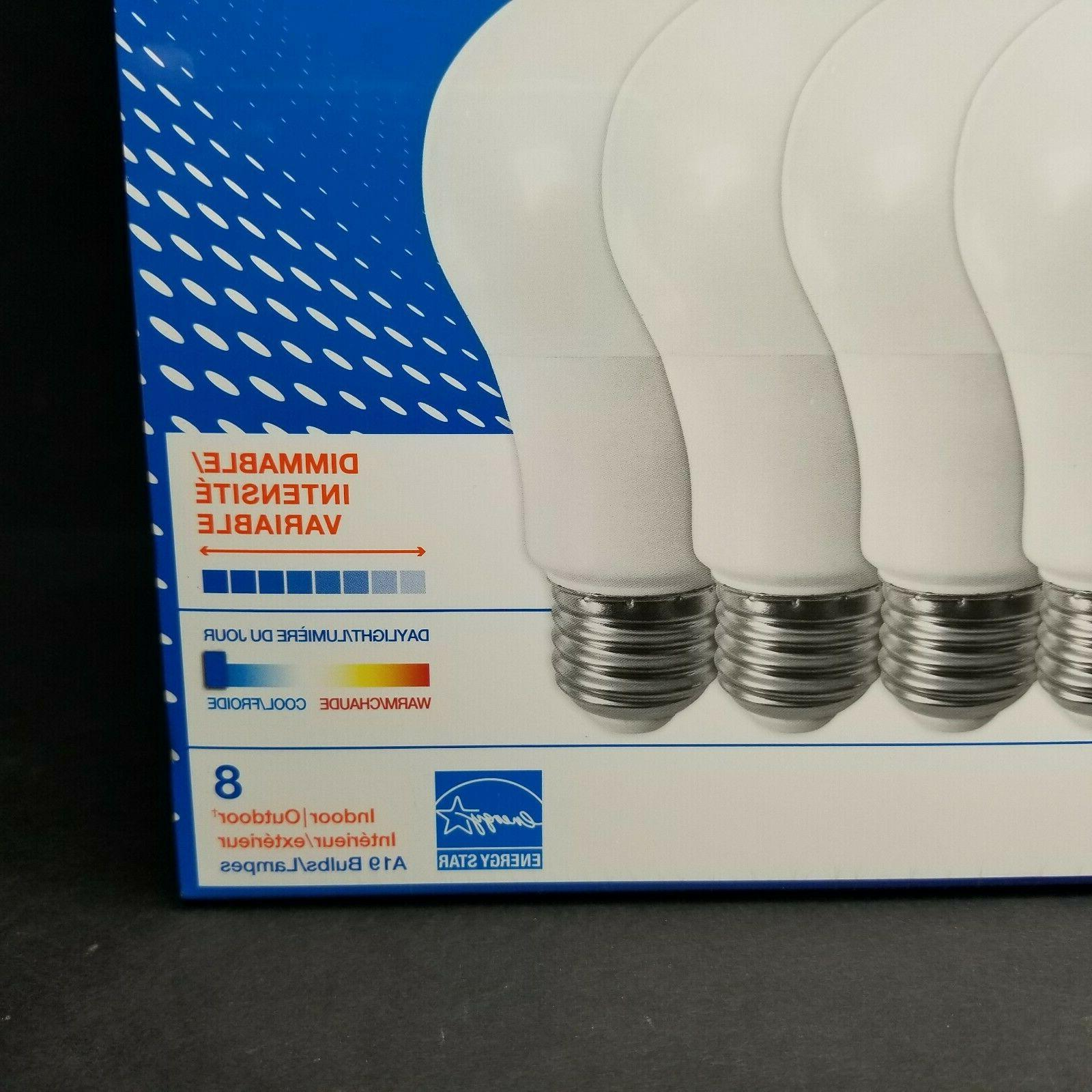 8 Sylvania A19 Daylight 800 Dimmable Star New