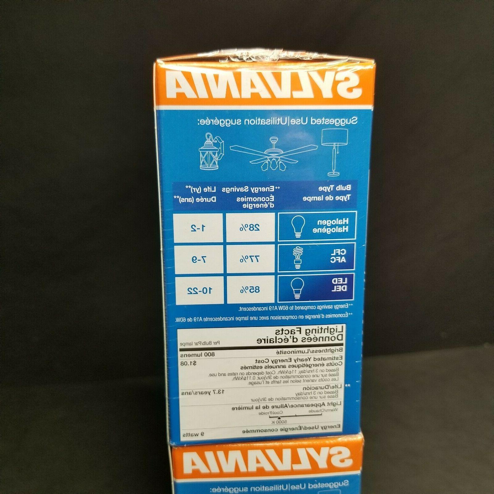 8 Sylvania LED A19 800 Star New