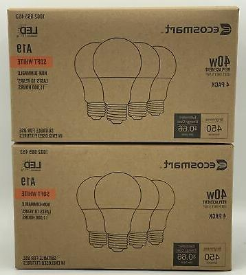 Ecosmart Replacement A19 Non-Dimmable Soft White LED Light