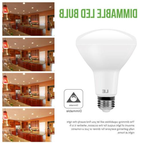 8 Pack BR30 LED Bulb 10.5W Warm White Bulbs