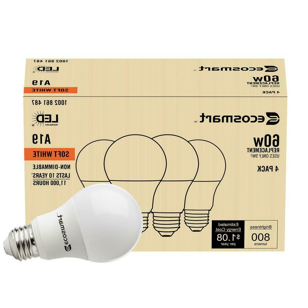 8 Pack 60W = 60 Equivalent 2700K Light Bulb New