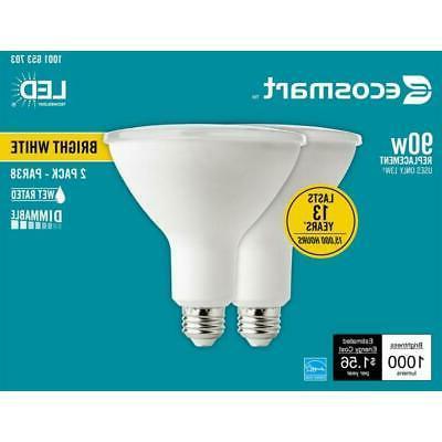90 Watt Energy Flood LED Light Bright White 2 Pack