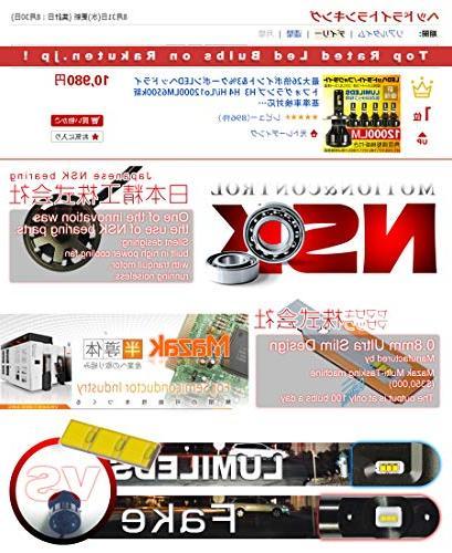 HIKARI Ultra LED Bulbs Conversion Kit -H11 , LED 6K White,2