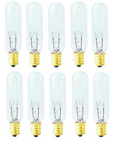 Pack of 10 Bulbs 15 Watt T6 Tubular 15T6 Light Bulb for Hima