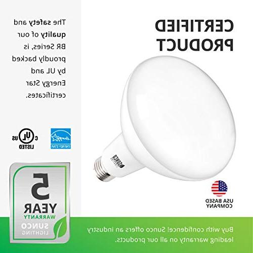 Sunco Lighting BR40 Dimmable, Daylight, base, - UL & Star