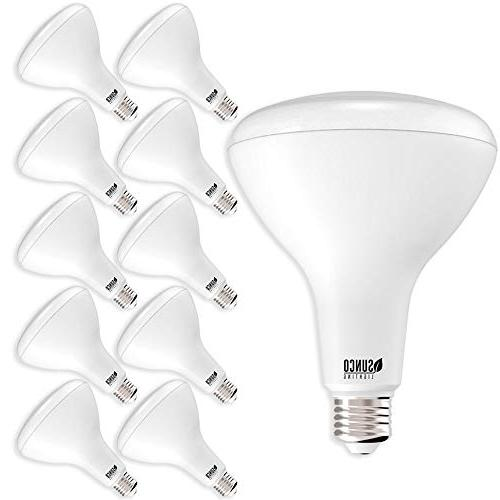 Sunco Lighting Pack BR40 LED Bulb, 17W=100W, Dimmable, Daylight, E26 base, Flood Home - Energy Star