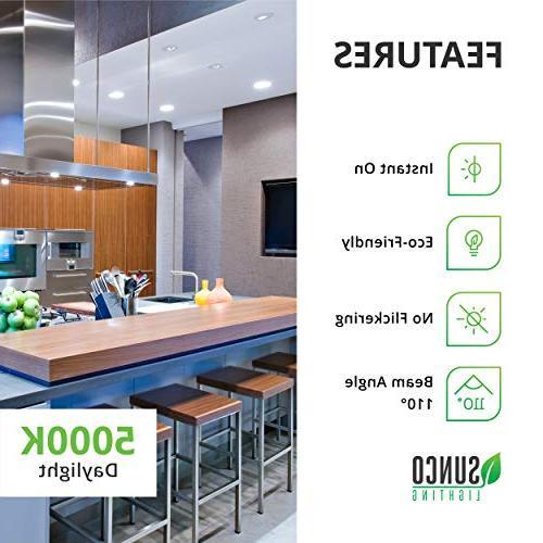 Sunco 8 BR30 5000K E26 Flood UL &