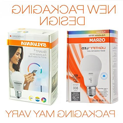 SYLVANIA Color Dimmable A19 Equivalent, with Wink, and Amazon Echo Plus