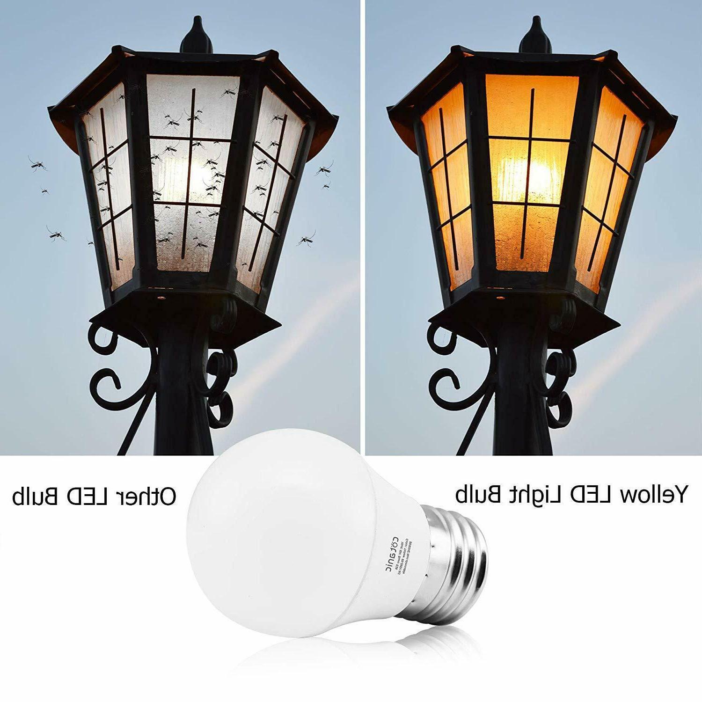 A15 Yellow Bug Light Bulbs, Warm Porch Lights,