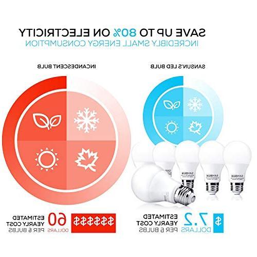A19 60 Watt Equivalent, 3000K Soft White, 6-Pack