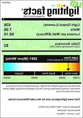 A19 LED 60 Equivalent, 3000K 6-Pack
