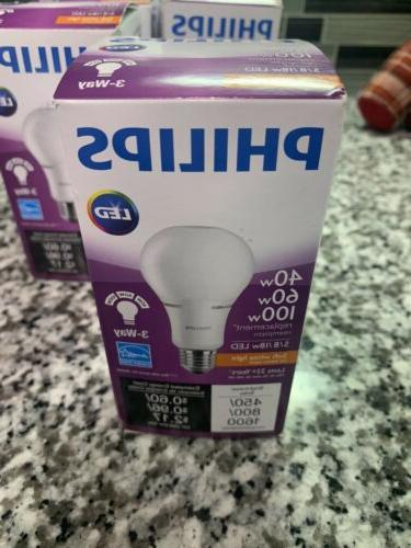 Philips 3-Way 18w 120V LED A21 Non-Dimmable Light bulb