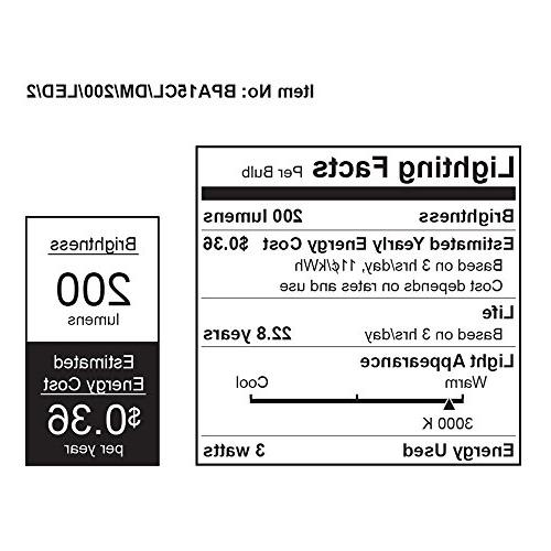Feit BPA15CL/DM/200/LED/2 A15 Medium LED