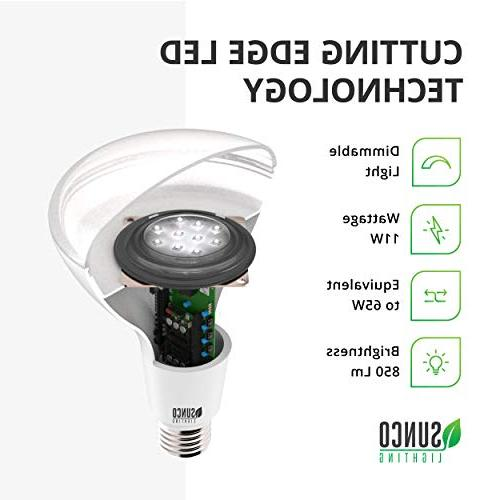 Sunco Lighting Pack 3000K Warm LM, Base, Dimmable, Indoor/Outdoor UL &