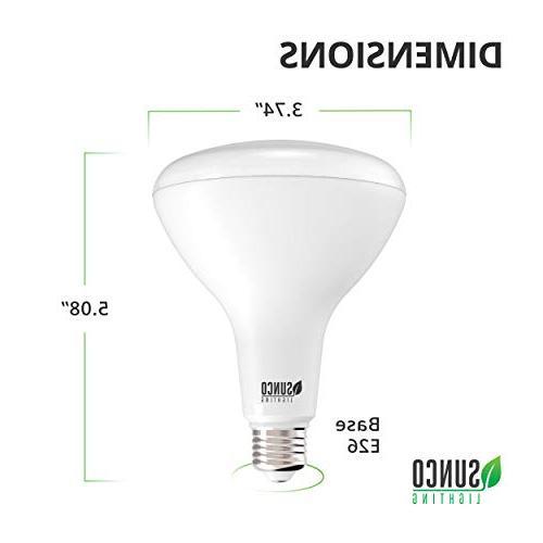 Sunco BR30 3000K White, 850 LM, Base, Indoor/Outdoor Light UL & Energy