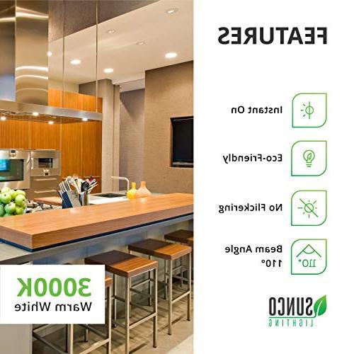 Sunco 12 Pack BR30 11W=65W, 3000K Warm White, 850 LM, E26 Indoor/Outdoor Flood