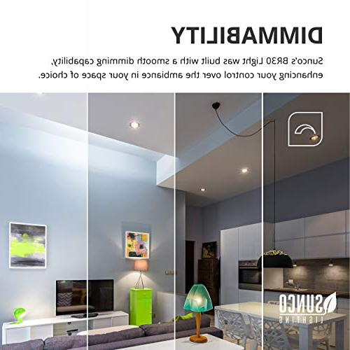Sunco Lighting 12 BR30 Bulb 3000K LM, Indoor/Outdoor Flood - UL & Energy