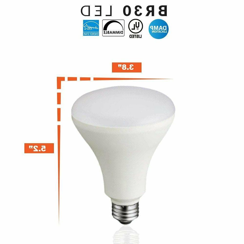 BR30 LED 11W 2700K Soft White Indoor//Outdoor Flood Light Bulbs 75 Watt UL Listed