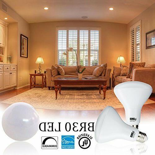 Sunco Lighting 8pk BR30 LED 11W 2700K Warm White Indoor Light Bulb
